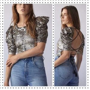 NWT Free People - Fifi Sequin Top S